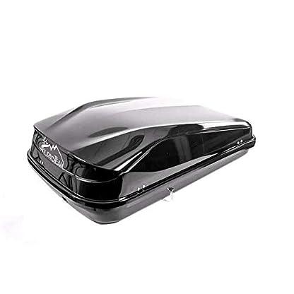 Junior Car Top Roof Box 420L Big Huge Easy Gloss Black Camping 6