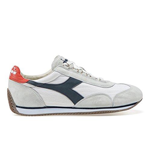 EQUIPE WASH Heritage Heritage Man Diadora Sneaker blu 12C7438 STONE Bianco 46 Diadora O5qwxACC