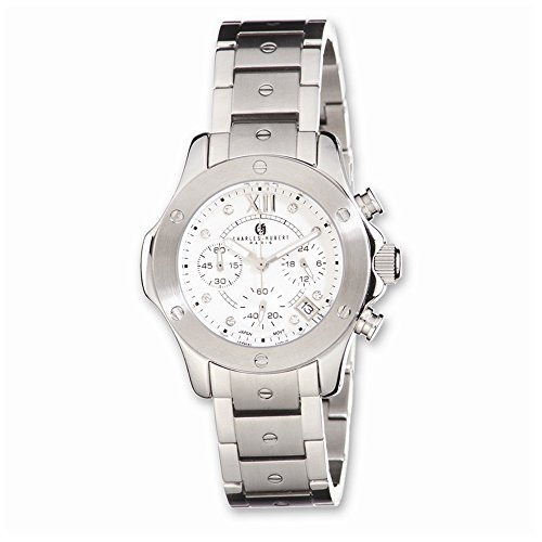 Charles-Hubert, Paris Women's 6782-W Premium Collection Stainless Steel Chronograph Watch by Charles-Hubert, Paris