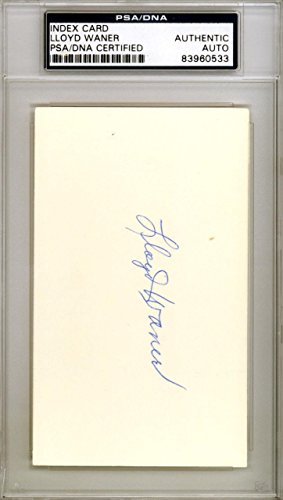 Lloyd Waner Autographed Signed 3x5 Index Card Pittsburgh Pirates #83960533 PSA/DNA Certified MLB Cut Signatures