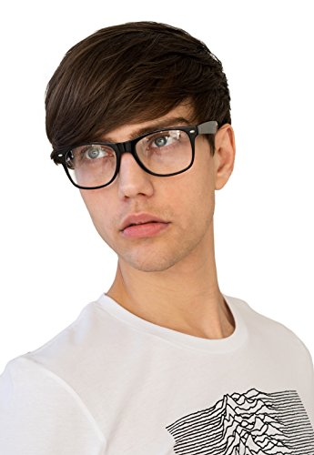 Clear Lens Geek Nerd Cosplay Chunky Black Frame Glasses Otaku Men's Women's - Uk Glasses Nerd