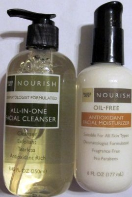 trader-joes-nourish-all-in-one-facial-cleanser-nourish-oil-free-antioxidant-facial-moisturizer