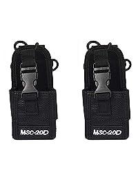 2 paquetes de funda de nylon para radio Walkie Talkie Pouch MSC-20D para Baofeng Motorola Kenwood Icom Radio
