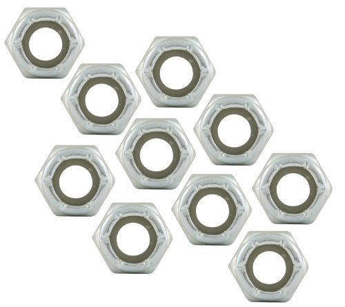 Allstar ALL16020-10 Thread Hex Nut Thin with Nylon Insert - 10 Piece