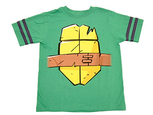 Teenage Mutant Ninja Turtles Raphael Sai Boys Striped Sleeves Costume T-Shirt (Boys 8) (Raphael Costumes Sai)