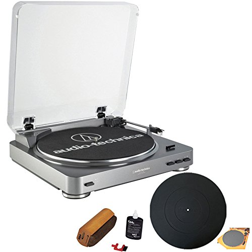 Audio-Technica AT-PL60USB USB Turntable With RCA Turntable Cleaning System