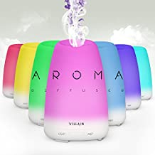 2017 Villain Essential Oil Diffuser - Beautiful Aromatherapy Ultrasonic Cool Mist Humidifier - No Noise & 7 Changing LED Lights - Waterless Auto Shut-Off