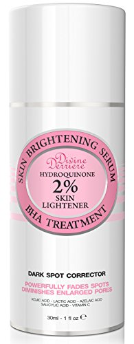 Skin Lightening 2% Hydroquinone Dark Spot Corrector Remover For Face & Melasma Treatment Fade Cream - Contains Vitamin C, Salicylic Acid, Kojic Acid, Azelaic Acid and Lactic Acid Peel 1 oz