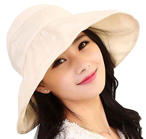 LYX Waterproof Sun Hat for Women, Outdoor UV Protection Wide Brim BucketHat Adjustable Fishing Cap (Brige)