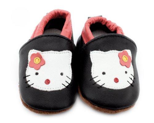 Baby Schuhe Krabbelschuhe Kleinkinder Karikatur für Jungen oder Mädchen Katze M