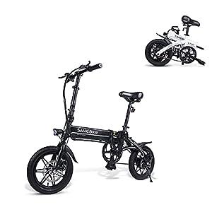 41o24JCmATS. SS300 SAMEBIKE YINYU14 Bicicletta Elettrica 250W 36V 7.5AH Batteria al Litio 14 Pollici Bicicletta Elettrica Pieghevole Ultraleggera per Adulti