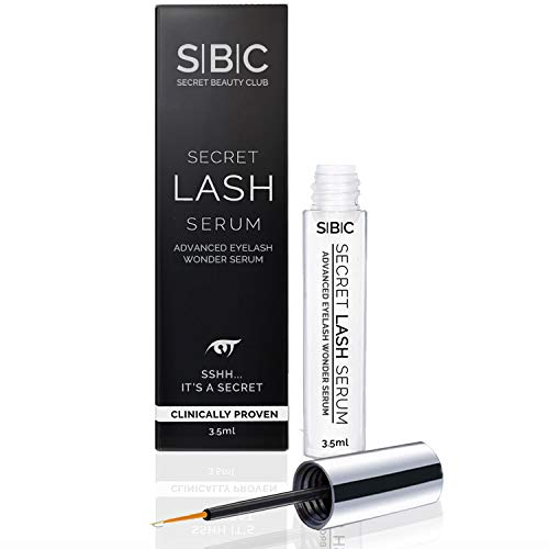 EYELASH SERUM by SECRET BEAUTY CLUB, 1 Way to Repair Extension Damage Fast, No Need for False Eyelashes, Top Enhancing Stimulating Growth Treatment, Best for Lashes & Brows