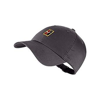d45d4de999b0b Nike 852184-036  NikeCourt Heritage 86 Adjustable Gunsmoke Tennis Hat   Amazon.co.uk  Clothing