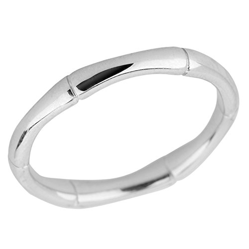 925 Sterling Silver 3 mm Bamboo Thumb Ring(Size (Bamboo Sterling Silver Ring)