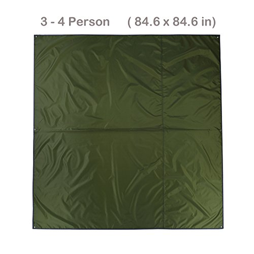 Topnaca-2-3-4-Person-Outdoor-Thickened-Oxford-Fabric-Camping-Shelter-Tent-Tarp-Canopy-Cover-Footprint-Groundsheet-Blanket-Mat