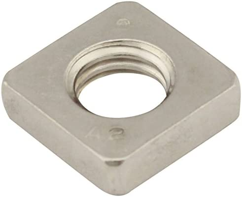 Edelstahl A2 Vierkantmuttern 2 St/ück V2A - DIN 562 - Einlegemutter SC-Normteile/® SC562 niedrige Form - M2 -