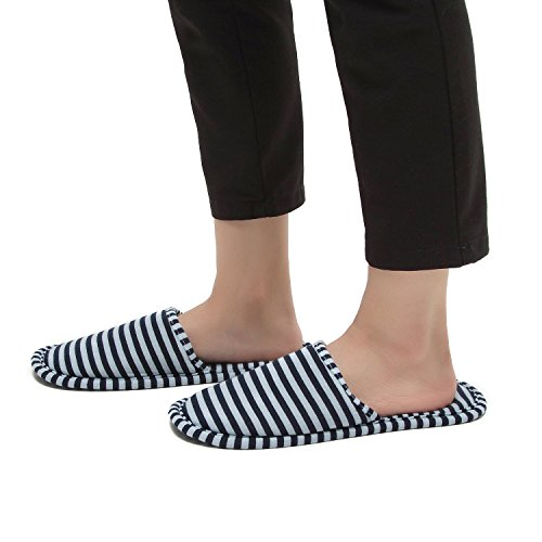 NKTM Women Men Travel Hotel Slippers,Foldable Travel Slippers Portable Carrying Bag (2 Pair) by NKTM (Image #6)
