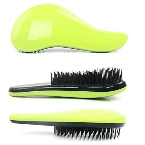 Price comparison product image Garrelett Detangling Brush, Paddle Wet Shower Bath Hair Brush Beauty Styling Care Hair Comb - No More Tangle - Adults & Kids Green