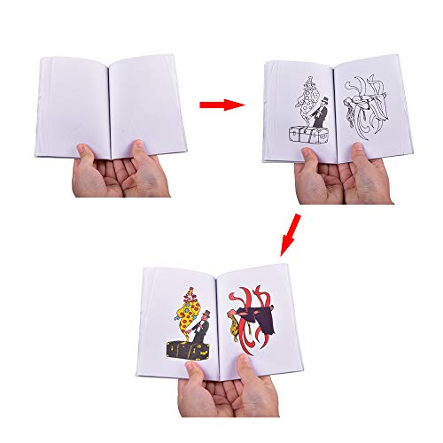 Doowops A Fun Magic Coloring Book, Magic Book Tricks Best for Children Magic Stage Gimmick Illusion Mentalism Funny Kids Toys -