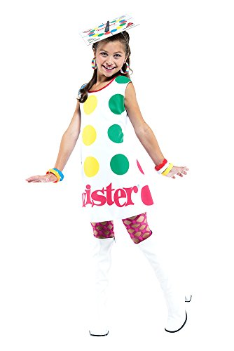 Girls - Twister Dress Child M 7-8 Halloween Costume - Child 7-8 - Twister Girl Halloween Costume