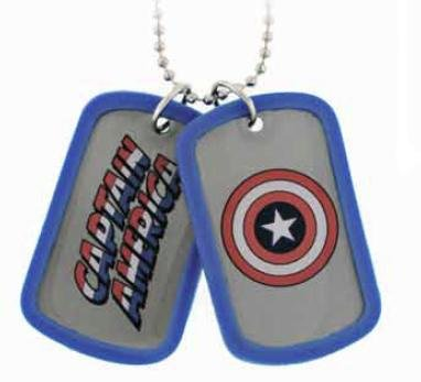 (Captain America Double Dog Tag - Blue)