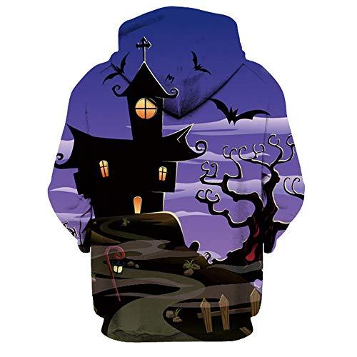 Amuster da uomo Halloween digitale di stampa con con Felpa e uomo donna di cappuccio wUH6nnEqfX