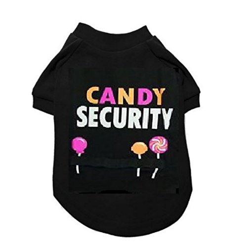 [Candy Security Dog Costume Pet Tee Halloween T-Shirt Medium] (Primrose Halloween Costume)