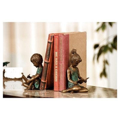 SPI Boy and Girl Bookends Pair ()