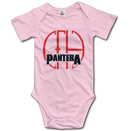 Pantera - 101 Baby Romper Short Sleeve Babysuit Baby Onesie For Boy Girl Pink 6 M