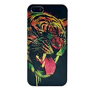 GONGXI Terror Tiger Pattern Plastic Back Cover for iPhone 5/5S
