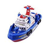 BYyushop Marine Rescue Boat Model Toy,Kids Music