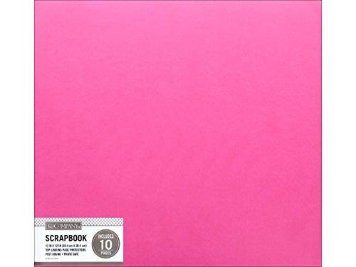 8 K&Co Scrapbook 12x12 Faux Leather Bright Pink Scrapbook 12x12 Brtpinkfxlthr ()