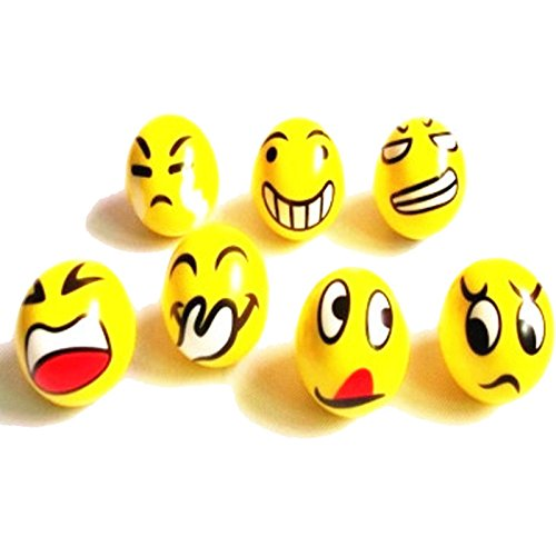 Cute Emoji Smile Emotion PU Sponge Stuffed Ball Toys  Mix Styles by Emours