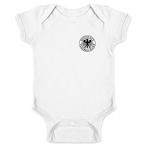 Pop Threads Germany Soccer Retro National Team White 6M Infant Bodysuit by