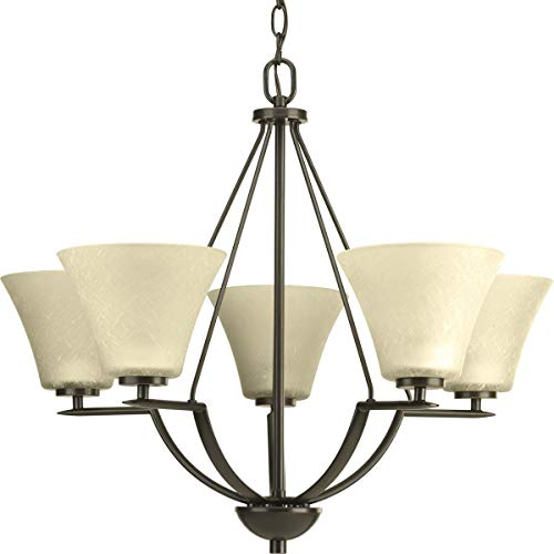 Progress Lighting P4623-20 Bravo Collection 5-Light Chandelier, Antique Bronze