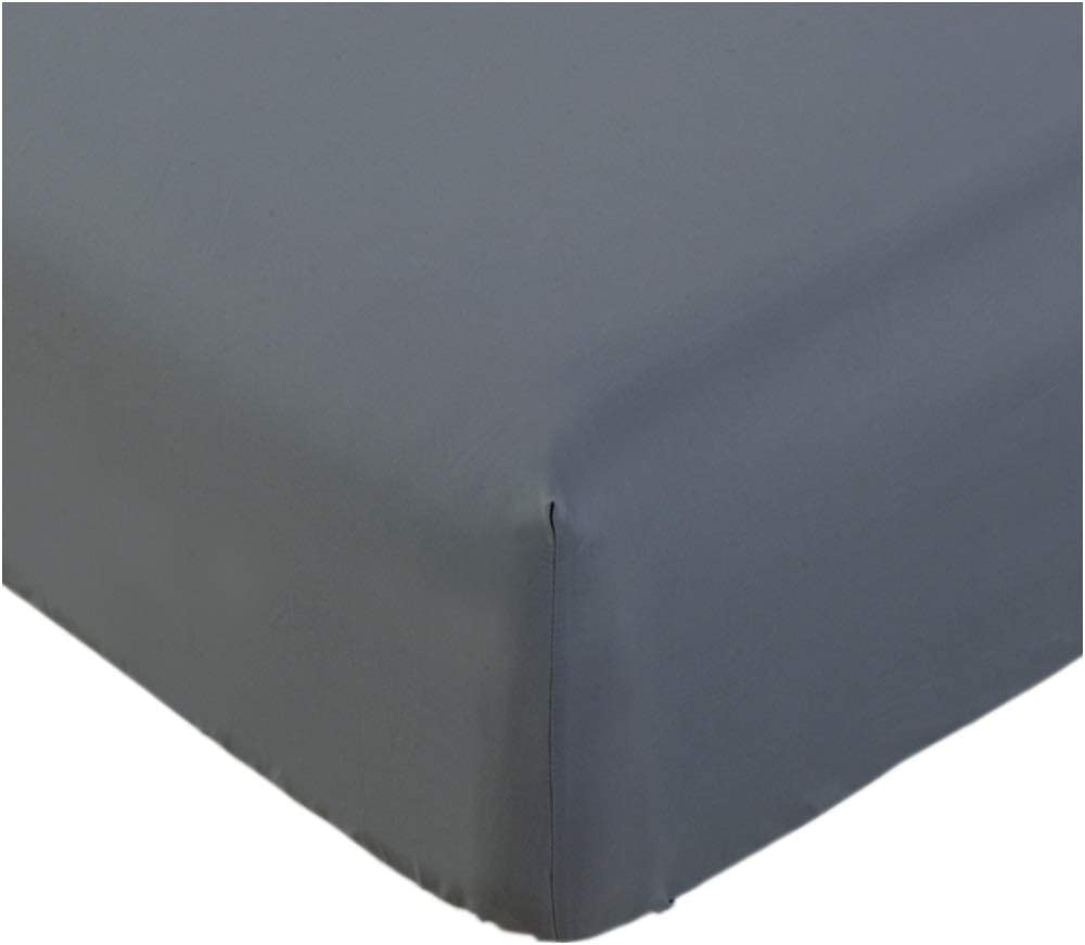 Mellanni Fitted Sheet Full Gray - Brushed Microfiber 1800 Bedding - Wrinkle, Fade, Stain Resistant - Hypoallergenic - 1 Fitted Sheet Only (Full, Gray)