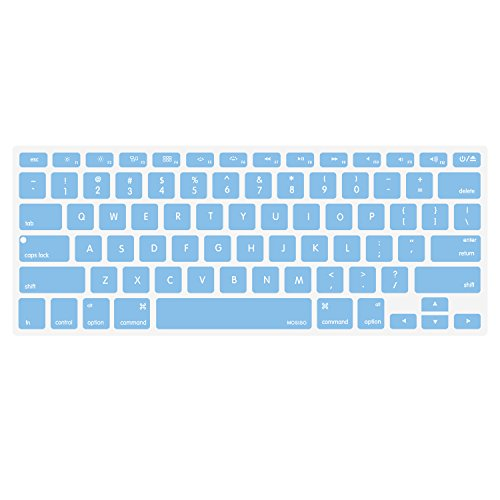 Mosiso Keyboard Cover for Macbook Pro 13 Inch, 15 Inch (with or without Retina Display, 2015 or Older (Air 2015)