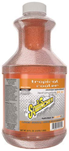 Tropical Sqwincher Cooler (Sqwincher 64 Ounce Tropical Cooler Flavor Liquid Concentrate Bottle Electrolyte Drink - 6 Each/Case)