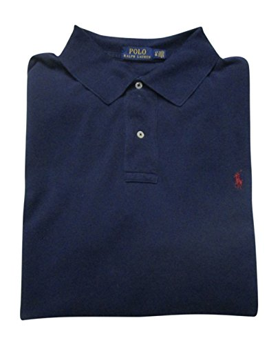 Polo Ralph Lauren Men's Big and Tall Pique Cotton Polo Shirt (4XLT, Windsor Navy)
