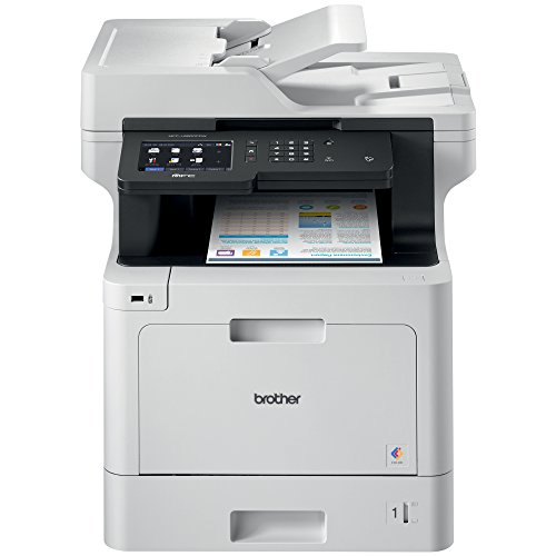 Brother MFC-L8900CDW Business Color Laser All-in-One Printer, Advanced Duplex & Wireless Networking, Business Printing, Flexible Network Connectivity, Mobile Device Printing & Scanning (Best Small Office Color Laser Printer Scanner)