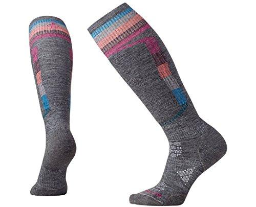 Smartwool Women's PhD Ski Light Elite Pattern Socks (Medium Gray) Medium
