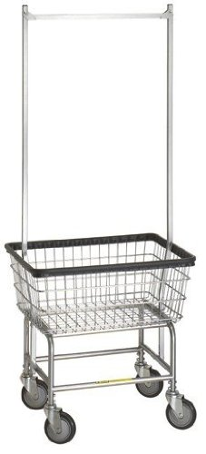 R&B Wire Standard Laundry Cart - Double Pole from R&B Wire Products