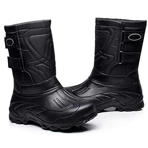 Pelle Pelle Pelle alla Felpa Spessore Invernali Stivali Boot 41 41 41 41 Scarpe Antiscivolo 45cm Caviglia Uomo D di Neve Impermeabile g4pTw1xq