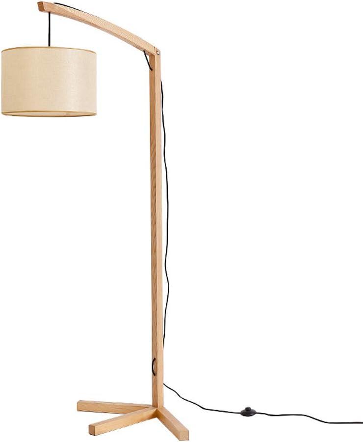DSELP Lampara pie Arco LED, Lampara pie Salon Madera Pantalla Lampara pie Tripode con Interruptor de Pie Iluminación Decorativa para Dormitorio Sala de Estar 12W E27: Amazon.es: Iluminación