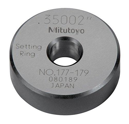 Mitutoyo 177-179 Setting Ring, 0.35' Size, 0.39' Width, 1.26' Outside Diameter, +/-0.00004' Accuracy 0.35 Size 0.39 Width 1.26 Outside Diameter +/-0.00004 Accuracy