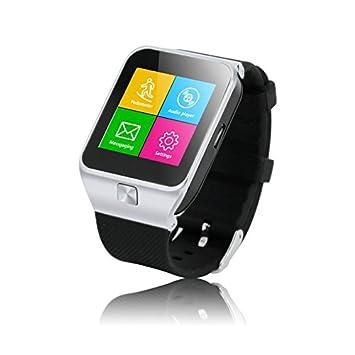Green House- Smart Watch Inteligente Reloj Android/ Iphone/ Bluetooth/ HD Pantalla/ T-FLASH/ Llamadas/ Internet: Amazon.es: Electrónica