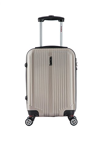 InUSA San Francisco 18-inch Carry-on Lightweight Hardside Spinner Suitcase - ()