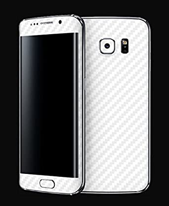 BBRAND White Carbon Fiber Front  amp; Back Mobile Skin for Samsung Galaxy S7 Edge Screen guards