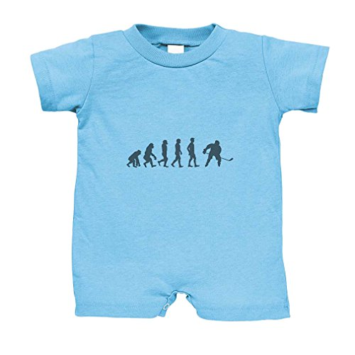 Evolution of Ice Hockey Cotton Infant Baby Jersey Tee T-Romper Light Blue 18 - Evolution Hockey Jersey