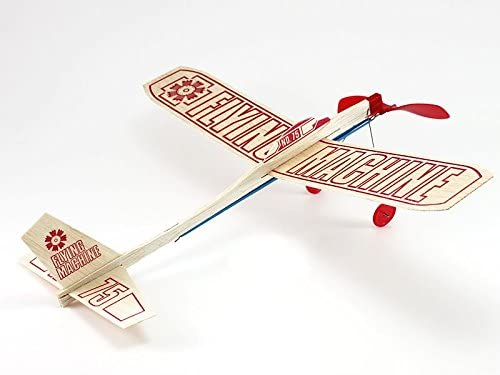 5 Planes Total Guillows Balsa Wood Gliders | Propeller and Rubber Band Powered Airplane Toy Wooden Airplane Assembly Kit for Kids 2 Twin Packs Plus Free Foam Glider SkyStreak Twin Pack